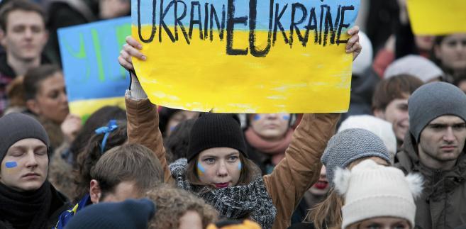 Ukraina - Wiec poparcia dla UE