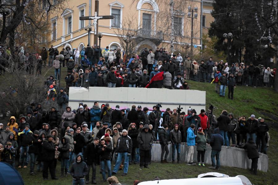 Kijów. Wielka demonstracja na Majdanie