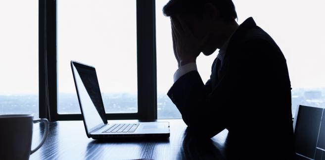 pracownik, biuro, stres