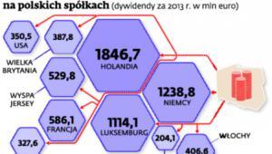 Ile zagraniczni udziałowcy zarobili na polskich spółkach