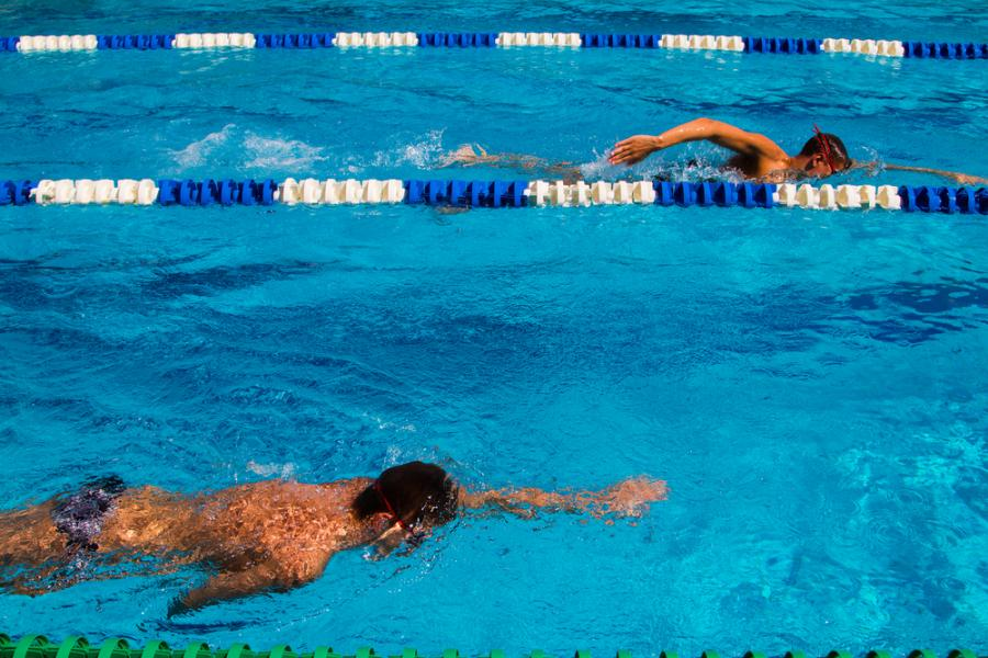 basen, zawody pływackie, pływanie