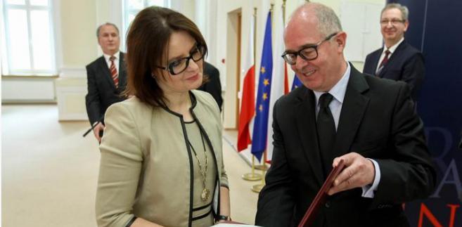Małgorzata Słowińska i Andrzej Seremet/ fot. Prokuratura Generalna