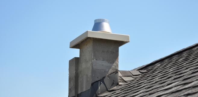 komin, dom, dach