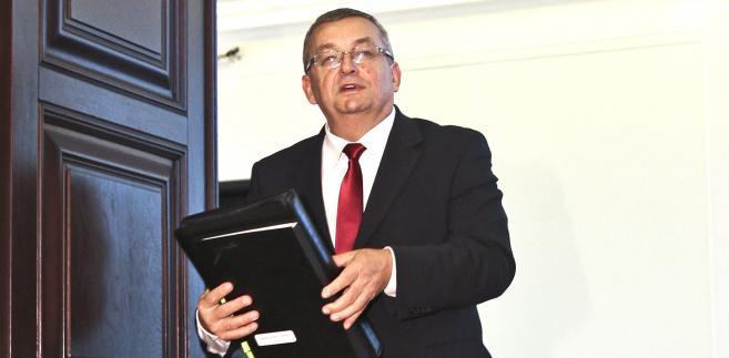 Andrzej Adamczyk, minister infrastruktury i budownictwa
