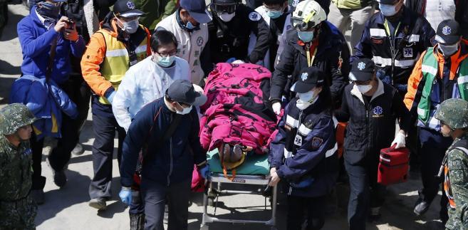 Bilans trzęsienia ziemi na Tajwanie: 35 ofiar śmiertelnych