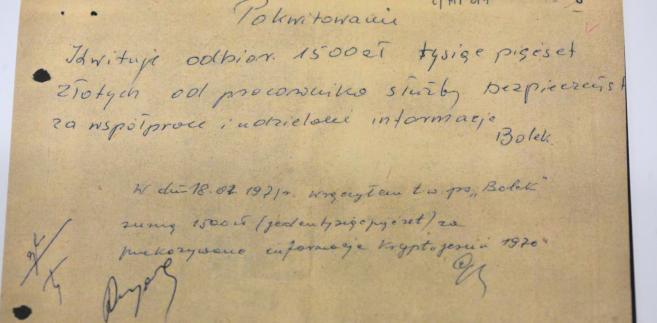 Dokument z archiwum Kiszczaka udostępniony przez IPN