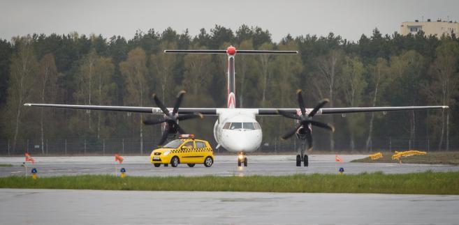 Samolot typu Bombardier Q-400. Zdjęcie ilustracyjne