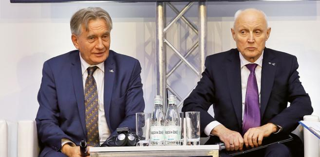 Piotr Woźniak, prezes Polskiego Górnictwa Naftowego i Gazownictwa, oraz Wojciech Jasiński, prezes PKN ORLEN