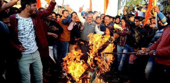 """Protest nacjonalistów przeciwko filmowi """"Padmavat"""""""