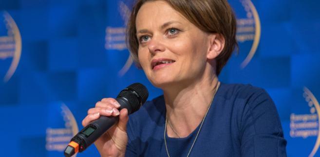 """Jadwiga Emilewicz podczas podczas panelu dyskusyjnego """"Rewolucja technologiczna"""" na EKG"""