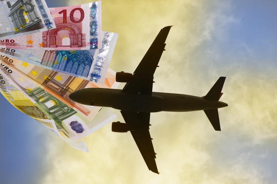 samolot, pieniądze, transport
