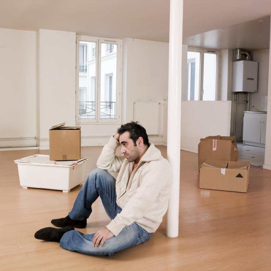 mieszkanie, smutek, nieruchomości