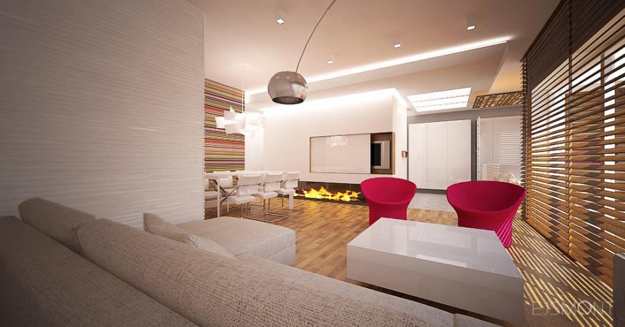 Apartament z odważną kolorystyka - projekt Ejsmont