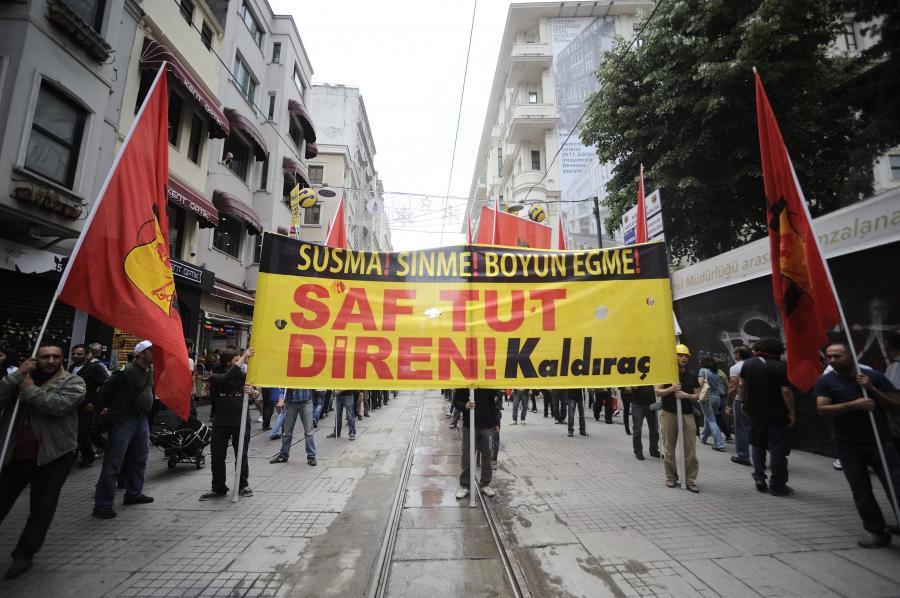 Turcja. Plac Taksim podczas protestu