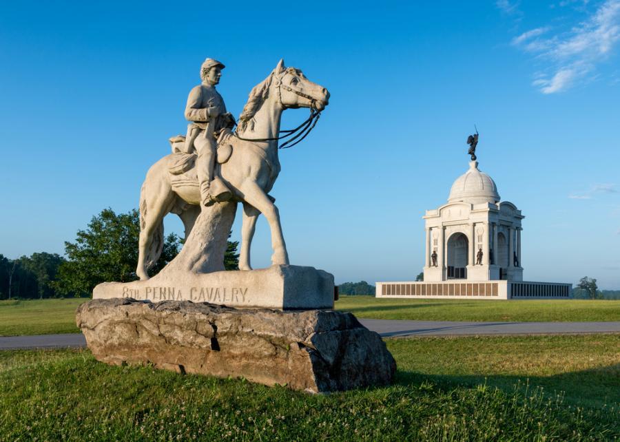 Militarny Park Narodowy w Gettysburgu. Jest to miejsce upamiętniające bitwę pod Gettysburgiem, która rozegrała się w lipcu 1863 roku podczas wojny secesyjnej. Była to największa bitwa podczas wojny.