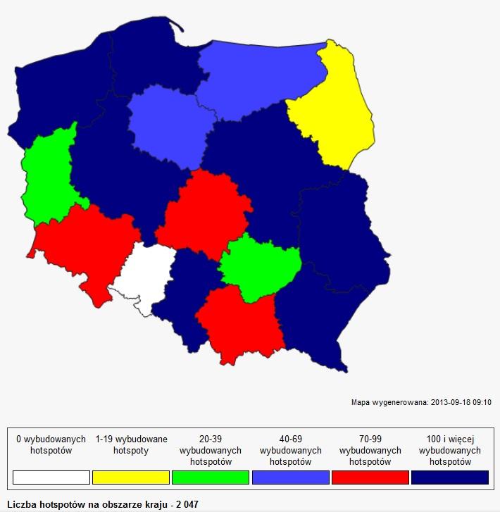 Samorządowe hot-spoty, źródło: UKE