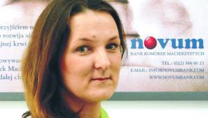 Justyna Morgaś kierownik banku komórek macierzystych Novum
