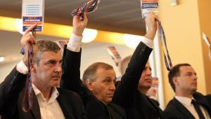 Grzegorz Schetyna podczas zjazdu.