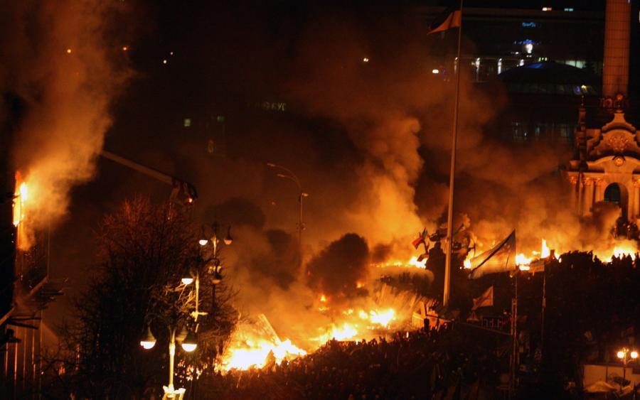 Zamieszki na Ukrainie. Fot. EPA/IGOR KOVALENKO/PAP/EPA