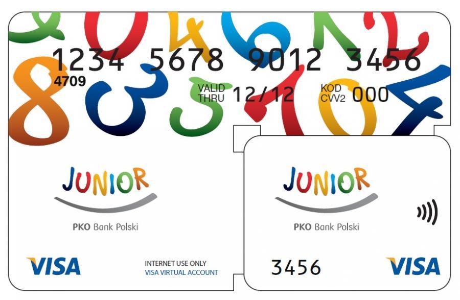 PKO Junior naklejka zblizeniowa Visa