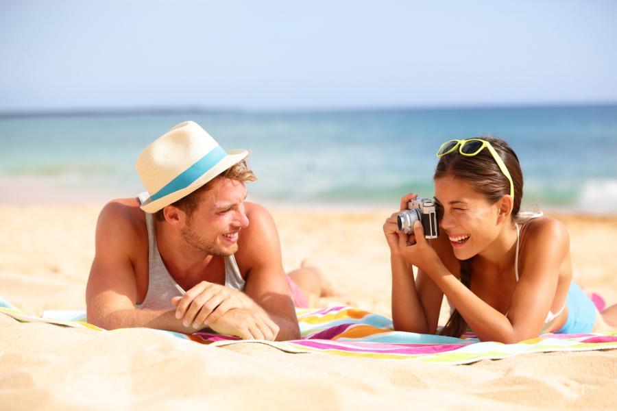 wakacje, lato, plaża, urlop