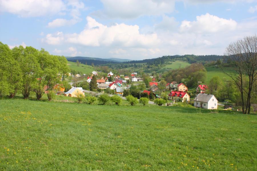 wieś, gmina, łąka, wioska