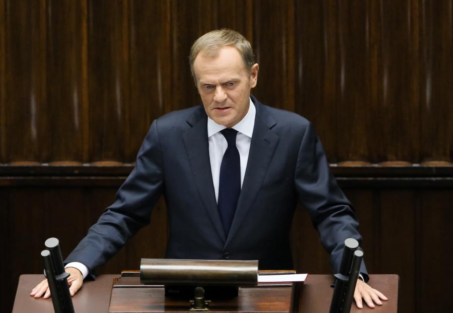 Wystąpienie premiera Donalda Tuska w Sejmie. Fot. PAP/Paweł Supernak