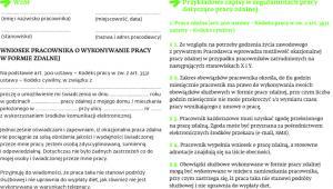 Wzory dokumentów w sprawie pracy zdalnej