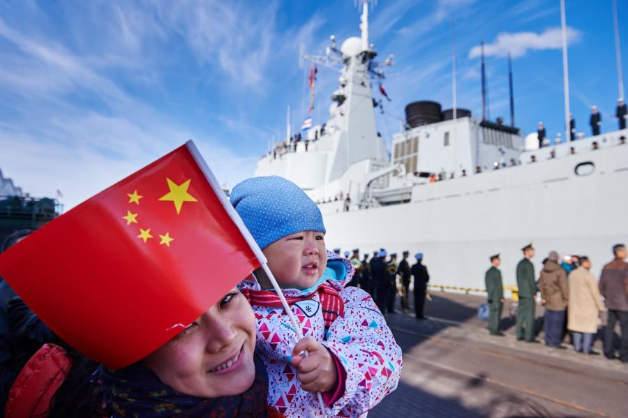 Trzy chińskie okręty wpłynęły do gdyńskiego portu, PAP/Adam Warżawa,
