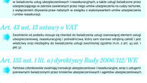 Zwolnienia z opodatkowania VAT usług ubezpieczeniowych, reasekuracyjnych i pośrednictwa