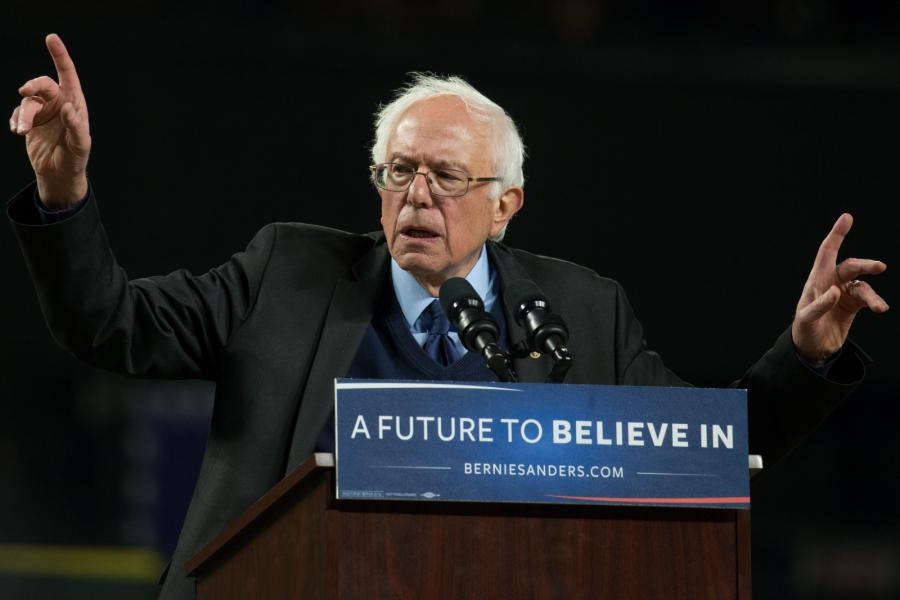 Bernie Sanders w Seattle w stanie Washington.