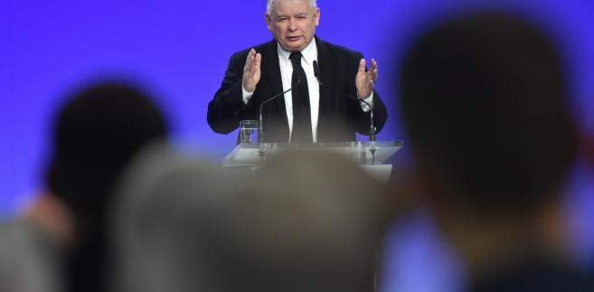 """Prezes PiS Jarosław Kaczyński przemawia na konwencji """"Kongres Wsi Polskiej"""""""