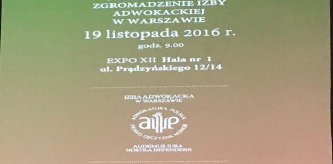 Nadzwyczajne zgromadzenie ORA w Warszawie / fot. Anna Krzyżanowska