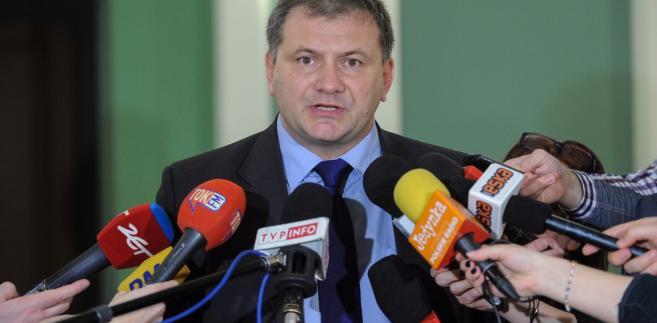 Rzecznik KRS, sędzia Waldemar Żurek po nadzwyczajnym posiedzeniu Krajowej Rady Sądownictwa