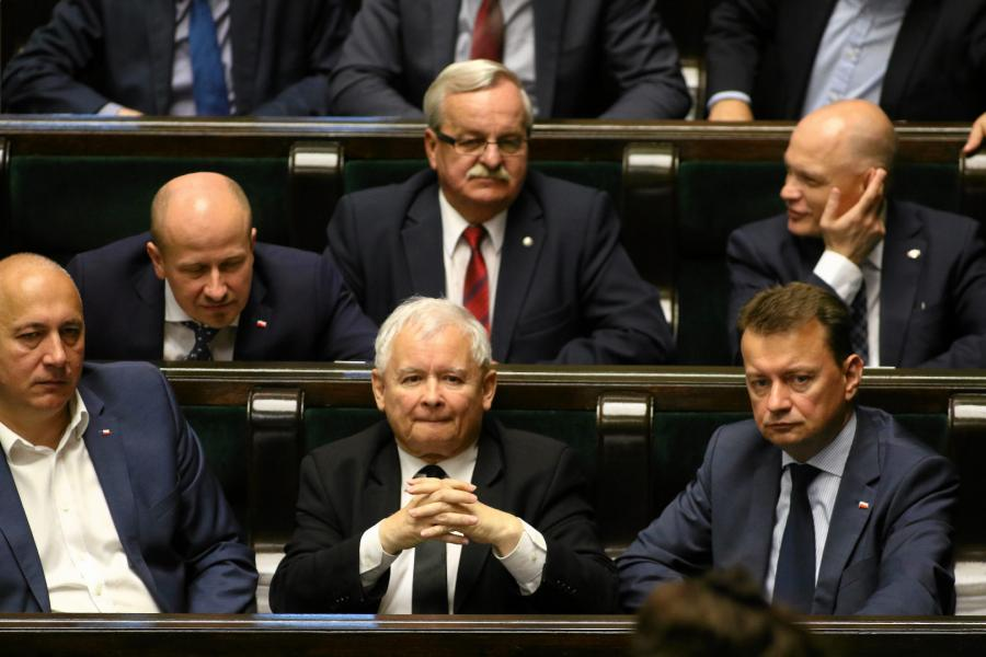 Joachim Brudziński, Jarosław Kaczyński, Mariusz Błaszczak