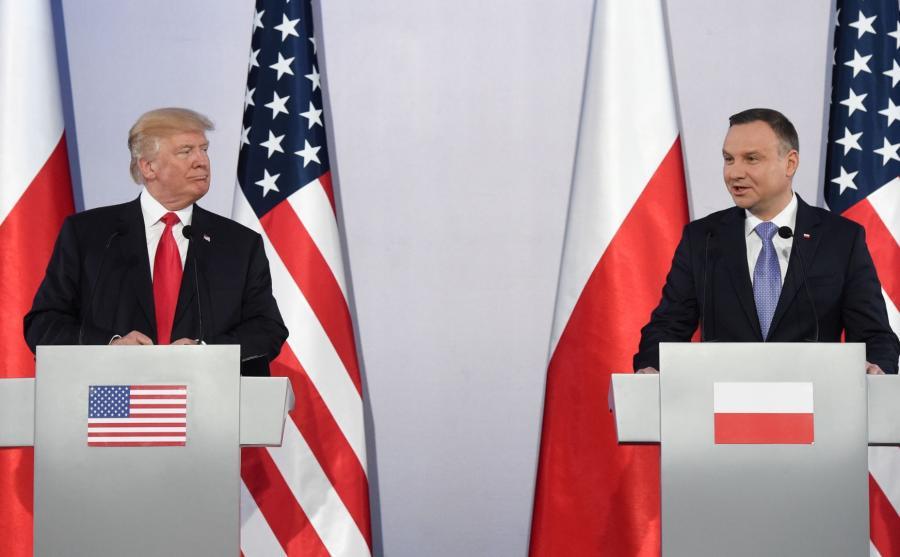 Donald Trump i Andrzej Duda na spotkaniu z mediami