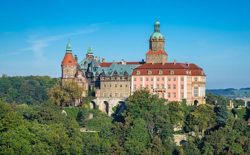 Zamek Książ, fot. Jar.ciurus / Wikimedia Commons, lic. cc-by-sa