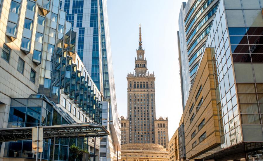 Warszawa. Widok na PKiN