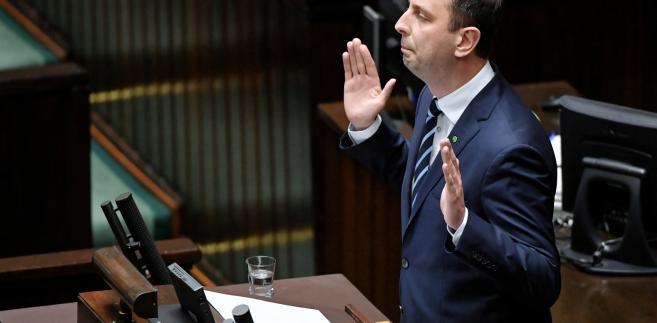 Kosiniak-Kamysz podczas debaty w Sejmie następującej po sprawozdaniu SN