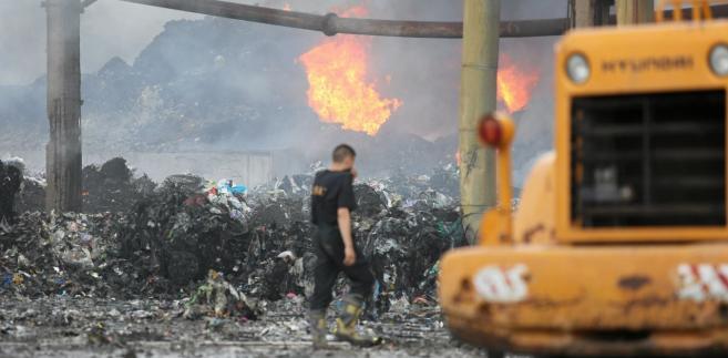 To, że teren pogorzeliska jest tykającą bombą ekologiczną, wskazywał też wojewoda.