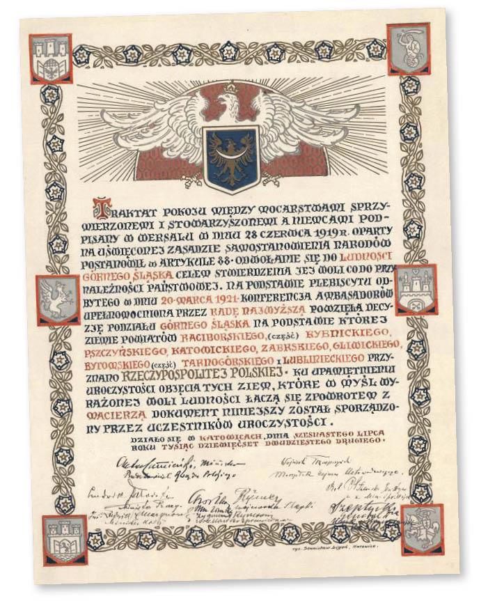 Traktat pokojowy podpisany po III powstaniu śląskim, 1922 r.