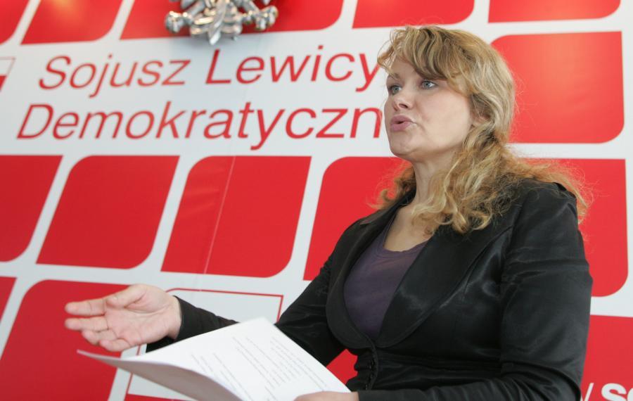 Katarzyna Piekarska jest liderką listy SLD w okręgu podwarszawskim.