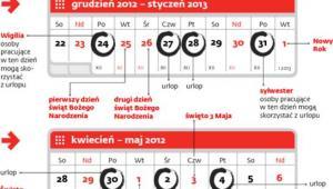 Najdłuższe weekendy w 2012 roku