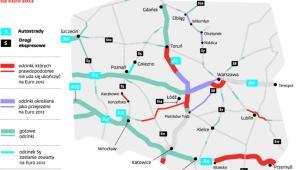 Które odcinki autostrad i dróg ekspresowych nie poprowadzą kibiców na Euro 2012