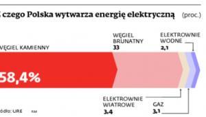 Z czego Polska wytwarza energię elektryczną