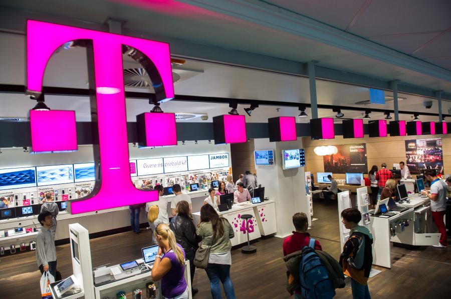 Sklep T-Mobile, którego właścielem jest Deutsche Telekom