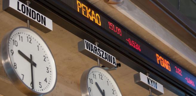 Giełda papierów Wartościowych w Warszawie.