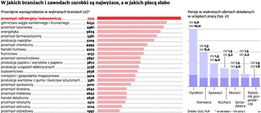 W jakich branżach i zawodach zarobki są najwyższe, a w jakich płacą słabo